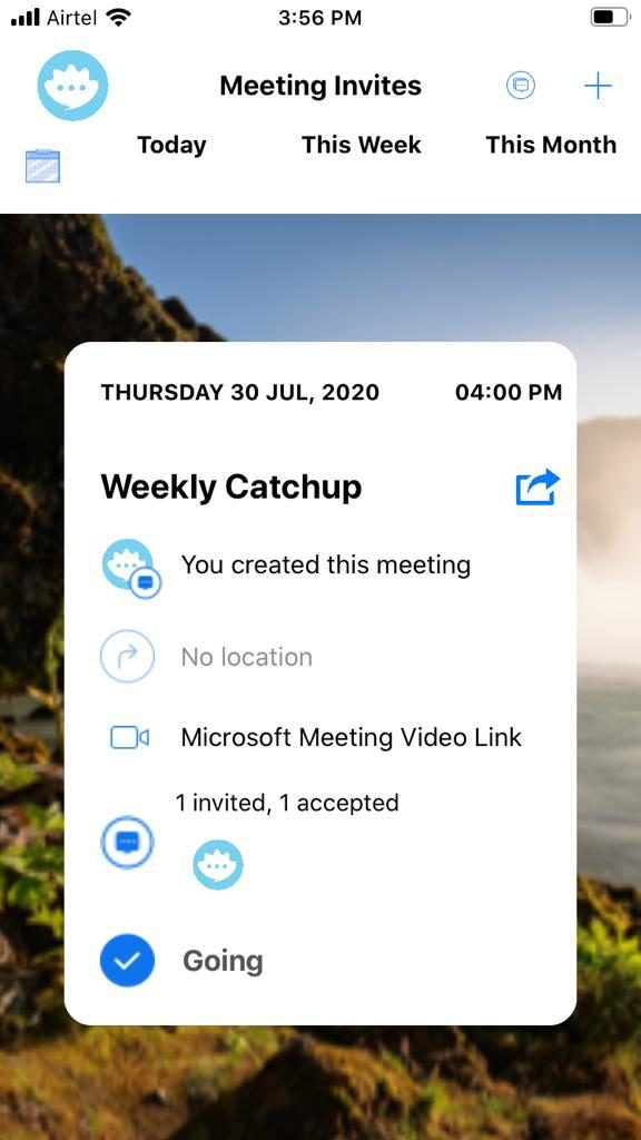 Joining a Microsoft Meeting from Oystro Meeting Invite Flashcard